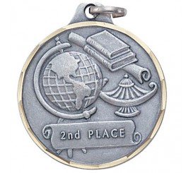 1 1/4 inch 2nd Place Medal E9158S