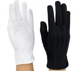 White Dress Cotton Slip-On Gloves #1050