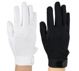 "White Dress Gloves Anti Slip ""Sure Grip""With Velcro Strap #6425"