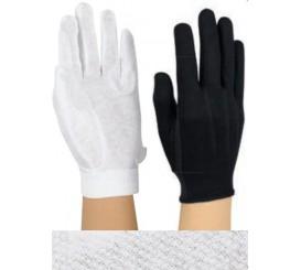 "White Cotton ""Sure Grip"" Anti Slip  Wrist Length #6426"