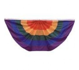 Rainbow Pleated Full Fan.