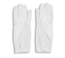 White Dress Gloves ,Nylon Snap On Wrist.#1071