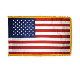 50 Star US Flag Parade & Indoor (Colonial Nyl-Glo) with Fringe #261B